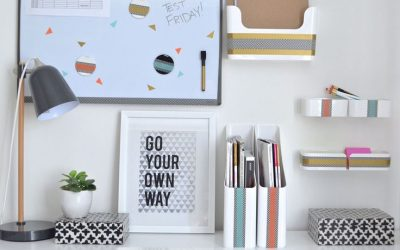 Apartment Hacks: How to Organize a Drawer-Less Office Desk