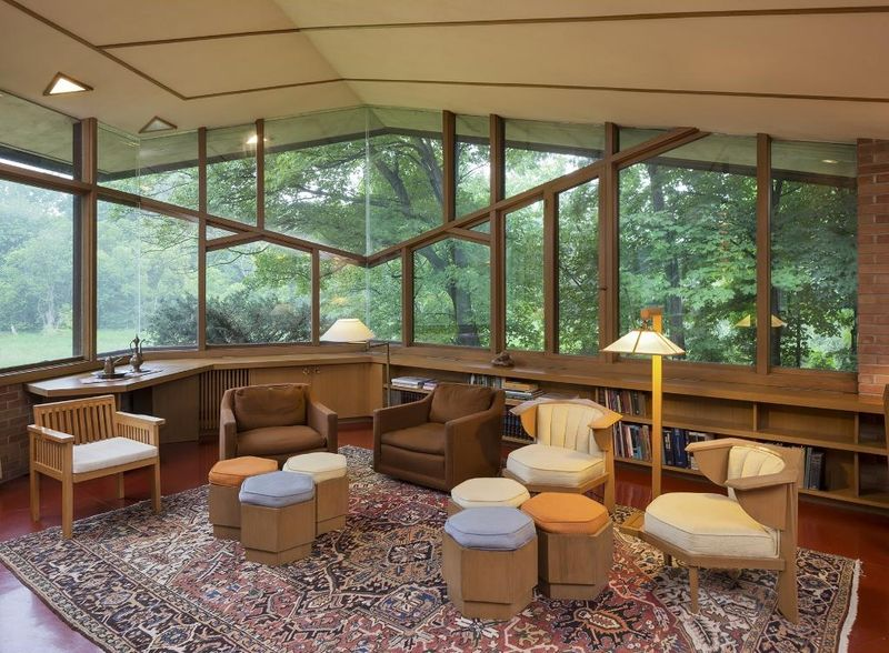 Space Optimized: A Dreamy Frank Lloyd Wright Home is Up on SALE – Original Furniture and All!