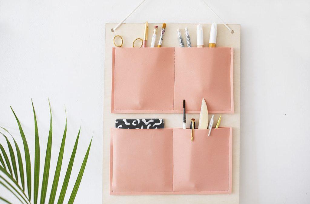 Apartment Hacks: DIY Hanging Organizer