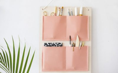 Apartment Hacks: DIY Hanging Organizer
