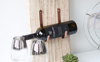DIY Wine Rack: Because a Tiny Home Deserves More Vino