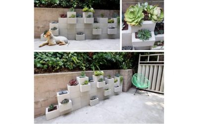 DIY Cinder Block Outdoor Planter For Your Small Home Garden