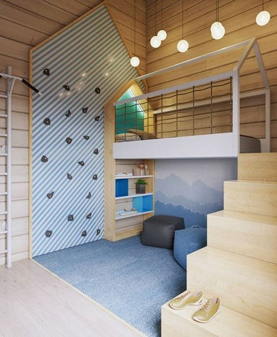 Climbing Wall Bedroom