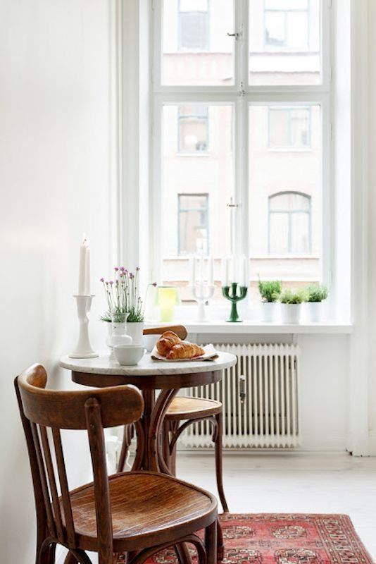 ... Dining Room Design Simple And Minimal. Tiny Apartment