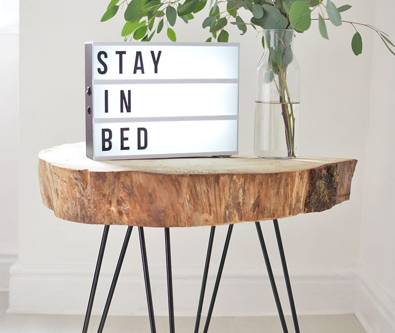 Small Apartment DIY: Minimalist Tree Slice Coffee Table