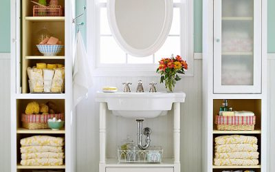 11 Small Apartment Ideas for Organizing a Drawer-less Bathroom