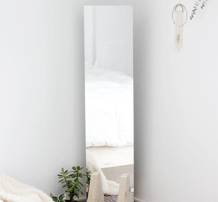 DIY Microapartment Project: Minimalist Floor Mirror