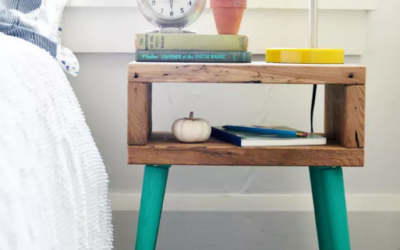 Small Apartment Hacks: DIY Mid-Century Side Table