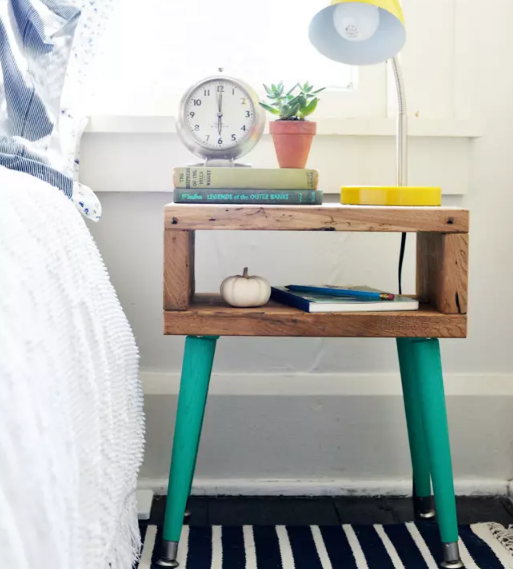 small apartment hacks diy mid century side table