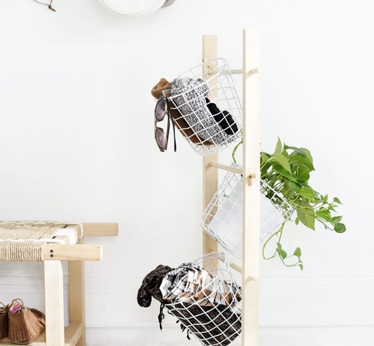 Small Apartment DIY: Basket Tower by TheMerryThought