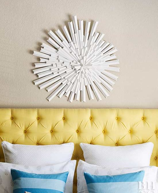 Small Apartment DIY: Tufted Headboard by BHG