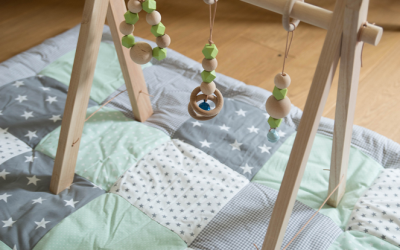 Small Apartment DIY: Minimalist Wooden Baby Gym
