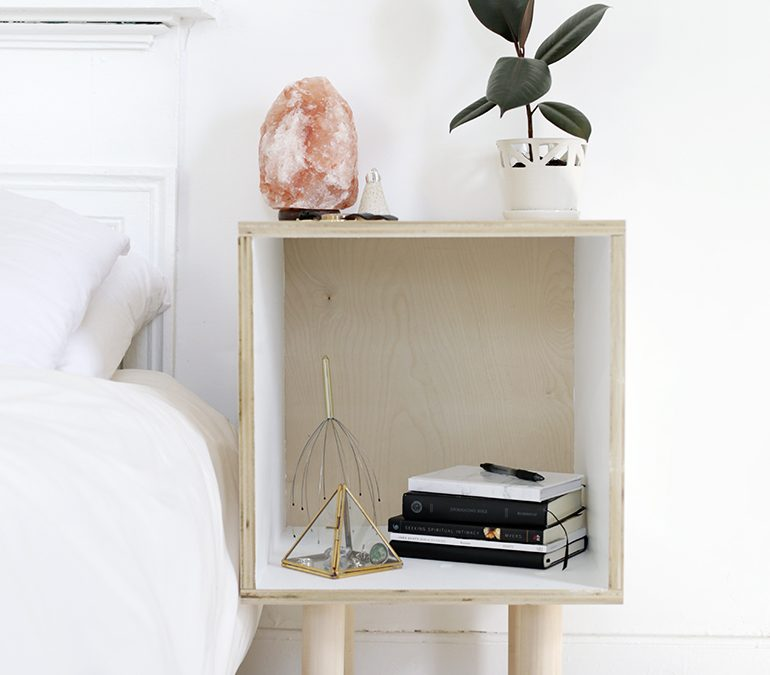 Small Apartment DIY: Minimalist Plywood Side Table