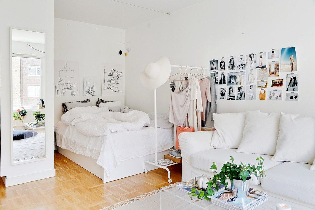 10 Clever Ways to Create a Bedroom in a Studio Rental