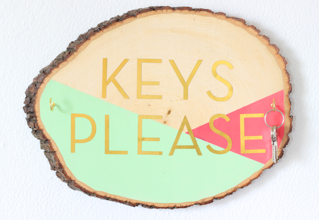 Small Apartment DIY: Wooden Key Organizer