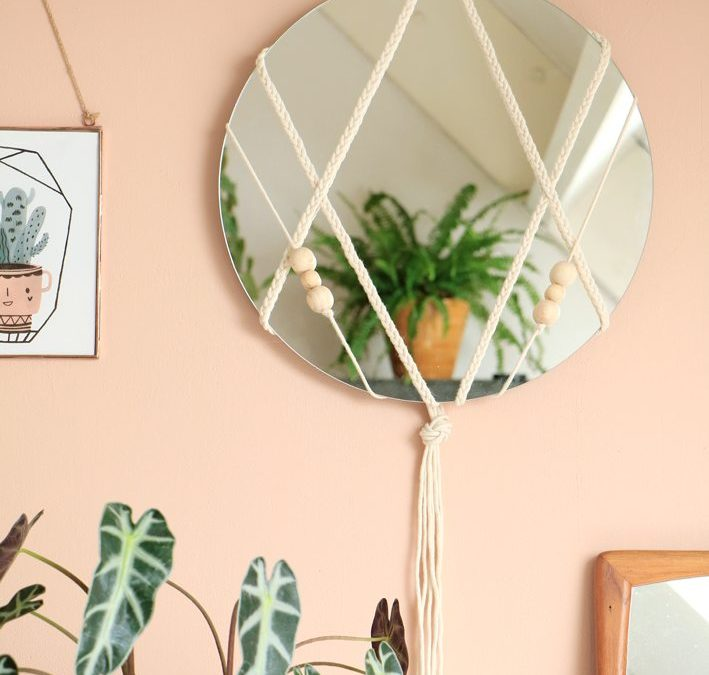 Small Apartment DIY: Decorative Macramé Mirror by EnterMyAttic